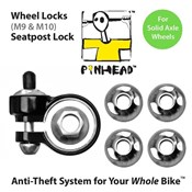 Product image for Pinhead Solid Axle Wheel/Seatpost Lock Pack