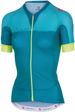 Image of Castelli Aero Race FZ Womens Short Sleeve Cycling Jersey With Full Zip SS16