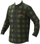 Troy Lee Grind Flannel Plaid Long Sleeve Cycling Shirt SS16