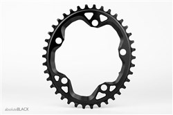 Product image for absoluteBLACK CX 110BCD 5 Bolt Spider Mount Cyclocross Oval Chainring