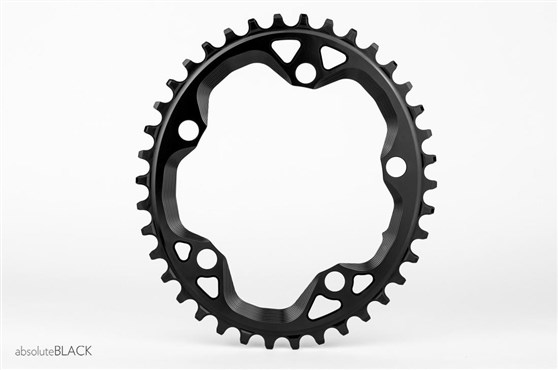 Image of absoluteBLACK CX 110BCD 5 Bolt Spider Mount Cyclocross Oval Chainring
