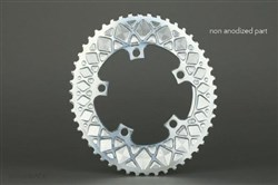 absoluteBLACK 110BCD 5 Bolt Spider Mount Aero Oval 2X Premium Race Chainring (not for Sram)