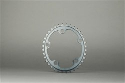 Product image for absoluteBLACK 110BCD 4 Bolt Spider Mount Aero Oval 2X Asymmetric Winter Training Inner Chainring