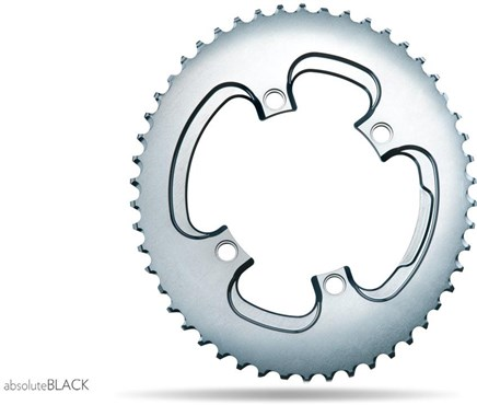 Image of absoluteBLACK 110BCD 4 Bolt Spider Mount Aero Oval 2X Asymmetric Winter Training Outer Chainring