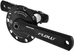 Rotor Inpower Flow 130 BCD Mas Power Meter Crankset - NO Chainrings