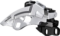 Product image for Shimano Deore M612-E Triple Front Derailleur With Side Swing and Front Pull