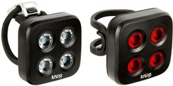 Product image for Knog Blinder Mob The Face Twinpack USB Rechargeable Light Set