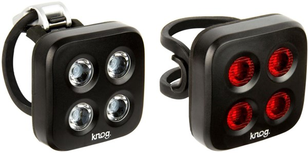Image of Knog Blinder Mob The Face Twinpack USB Rechargeable Light Set