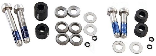 Image of Avid Post Spacer Set XX - 10 S - Front 170 - CPS (Inc. Ti Caliper Mounting Bolts)