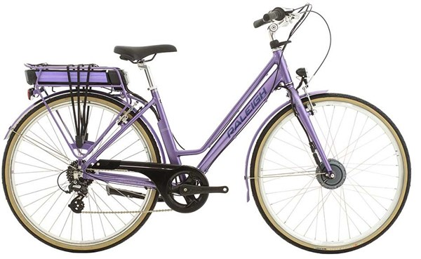 "Raleigh Pioneer E Low Step 26"" Womens 2017 - Electric Hybrid Bike"