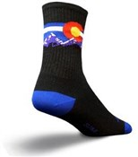 "SockGuy Crew 6"" Wool Colorado Mountain Socks"