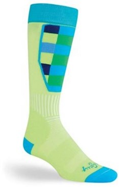 SockGuy MTN-Tech Ski Green Plaid Socks
