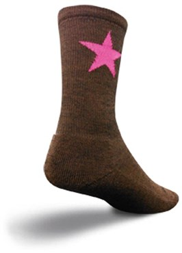 "Image of SockGuy 6"" Pink Star Wooligan Socks"