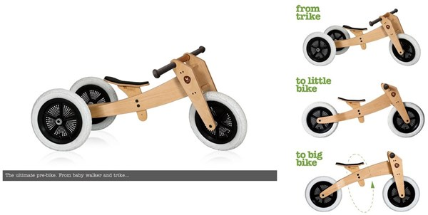 Wishbone 3in1- Original 12W 2017 - Kids Balance Bike