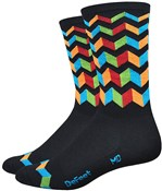 "Product image for Defeet Aireator Hi-Top 6"" Socks - Jitterbug"