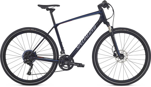 Image of Specialized Crosstrail Expert Carbon  700c 2017 - Hybrid Sports Bike