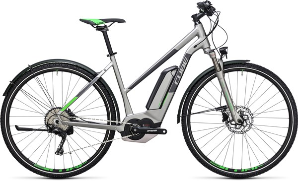 Image of Cube Cross Hybrid Race Allroad 500  Trapeze  2017 - Electric Bike