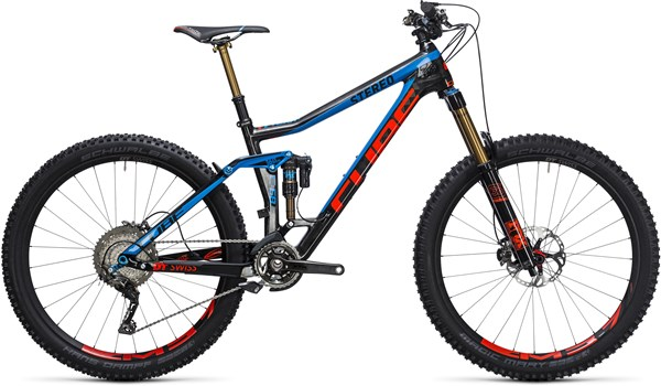 "Image of Cube Stereo 160 C:68 Action Team 27.5""  Mountain Bike 2017 - Full Suspension MTB"