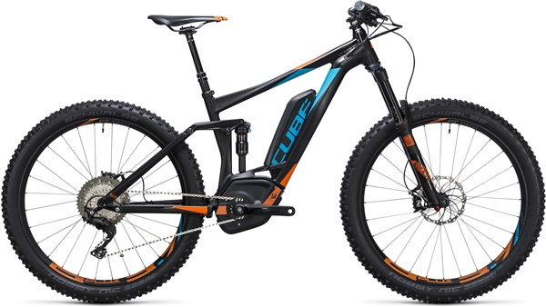 "Image of Cube Stereo Hybrid 140 HPA 27.5""+ SL 500 2017 - Electric Bike"