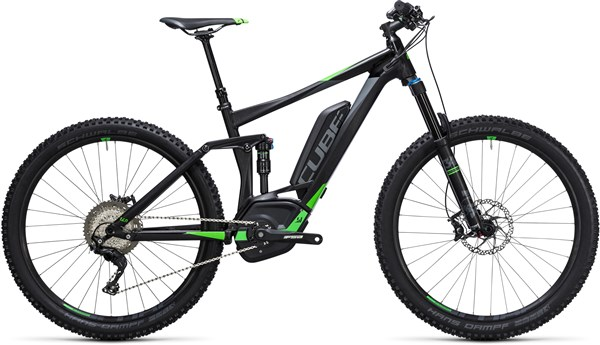 "Image of Cube Stereo Hybrid 140 HPA Race 500 27.5""  2017 - Electric Bike"
