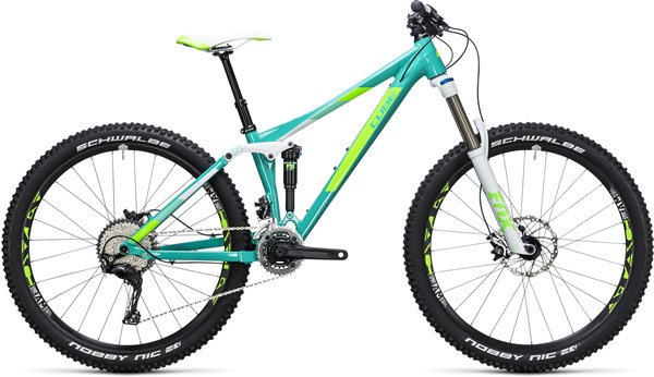 "Cube Sting WLS 140 Race 2X 27.5"" Womens Mountain Bike 2017 - Trail Full Suspension MTB"
