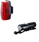Product image for Cateye Volt 80 Front / Rapid Micro Rear USB Rechargeable Light Set