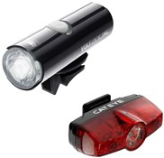 Product image for Cateye Volt 200 XC Front / Rapid Rear USB Rechargeable Light Set