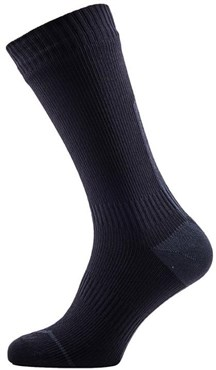 Image of Sealskinz Road Cycling Thin Mid Socks with Hydrostop AW16