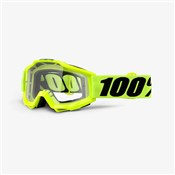 Product image for 100% Accuri OTG (Over The Glasses) Clear Lens MTB Goggles