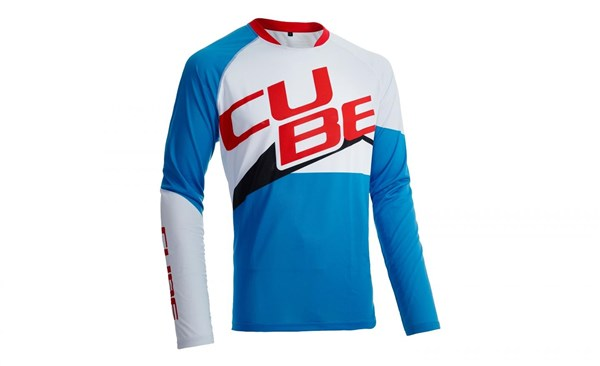 Cube Action Team Roundneck Teamline Long Sleeve Cycling Jersey