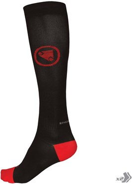 Endura Compression Cycling Socks - Twin Pack AW17