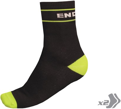 Endura Retro Cycling Socks - Twinpack SS17