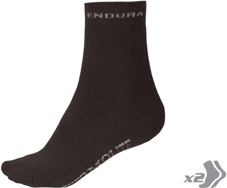 Endura Thermolite Cycling Socks - Twin Pack SS17