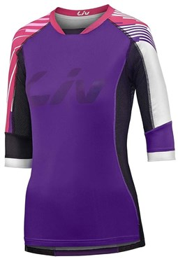 Liv Womens Tangle 3/4 Length Sleeve Cycling Jersey
