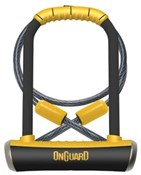 OnGuard Pitbull Shackle U-Lock Plus Cable - Gold Sold Secure
