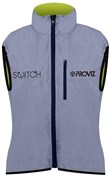 Proviz Switch Womens Cycling Gilet Yellow Rear