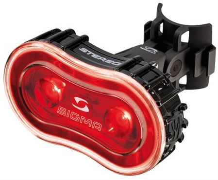 Sigma Stereo 2 LED USB Rechargeable Rear Light