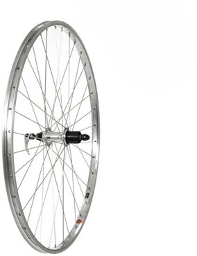 Tru-Build Silver Alloy Rim Built on Shimano 7 Speed Cassette Alloy Q/R Hub