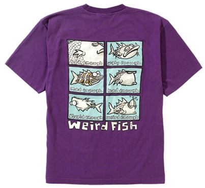 Buy weird fish six fish t shirt at tredz bikes for Weird fish t shirts